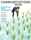 cover of CACM magazine with Jock Mackinlay article about data visualization software