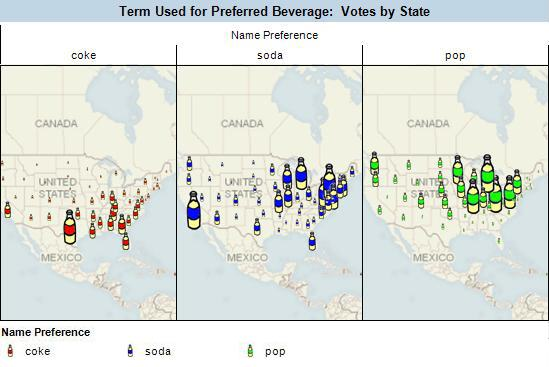 Pop, Soda vs Coke Visual Analysis Map
