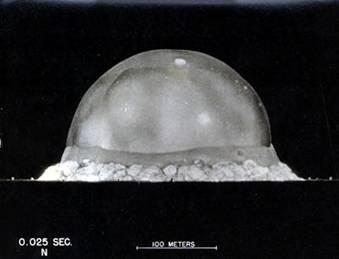 data analysis photo of trinity nuclear test